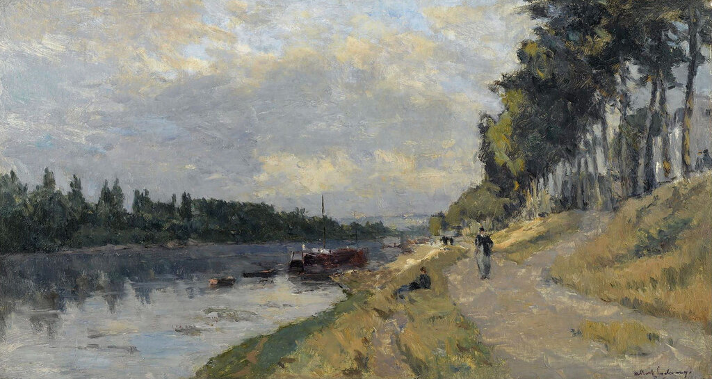 Albert Lebourg - The Banks of the Seine at Puteaux.jpeg