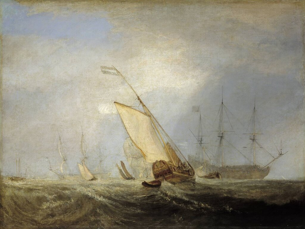 Van Tromp Returning after the Battle off the Dogger Bank exhibited 1833 by Joseph Mallord William Turner 1775-1851