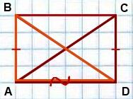 diagonali lyubogo pryamougolnika ravnyi