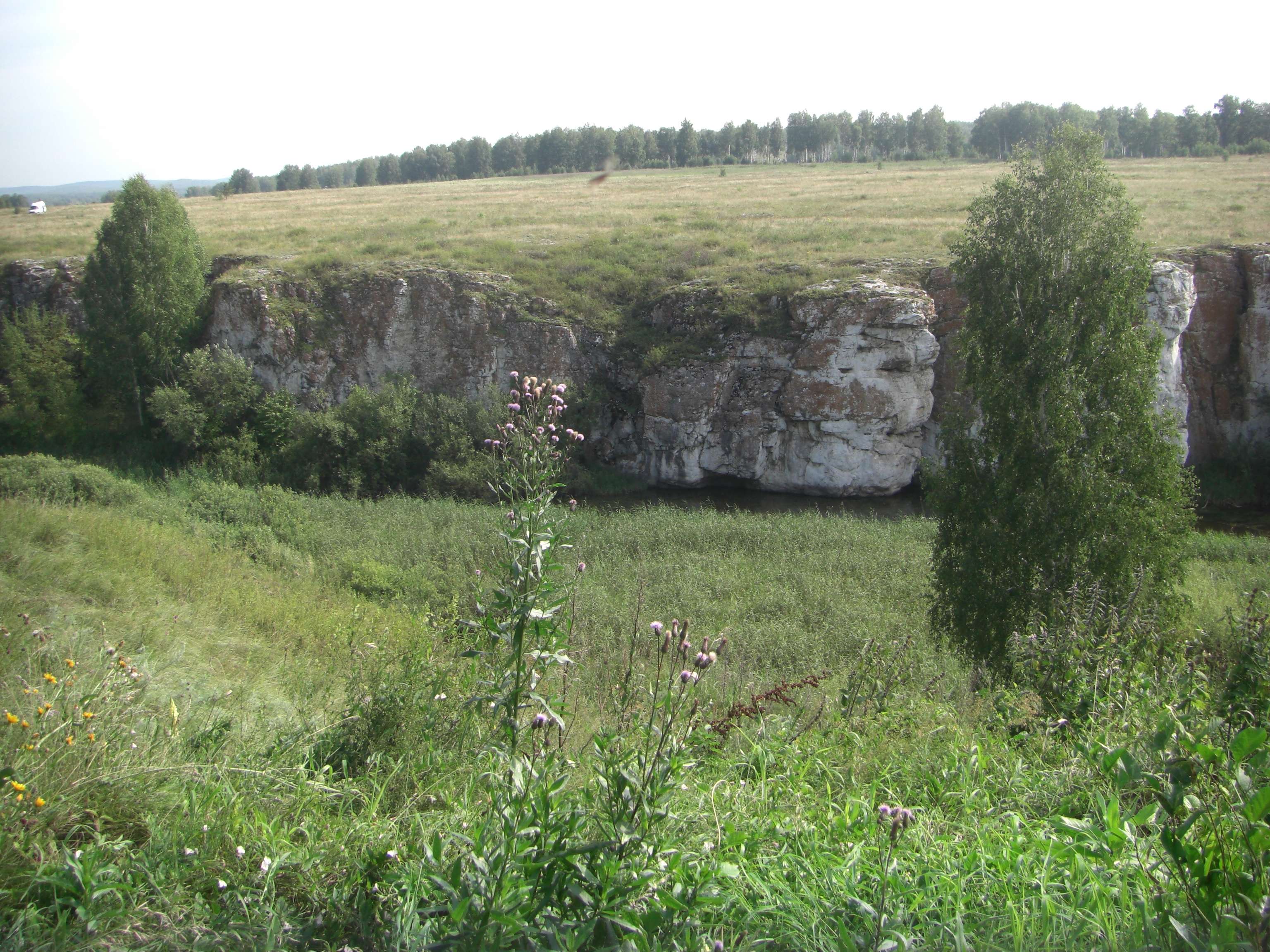 Устиновский каньон с противоположного берега (22.08.2014)