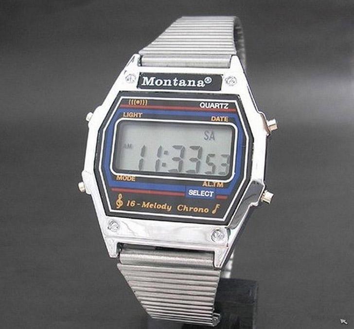 10. Обязательный атрибут крутого чувака — электронные часы Montana. Остальные не катили.