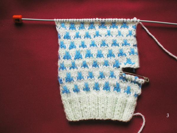 Вяжем рукавички двумя спицами