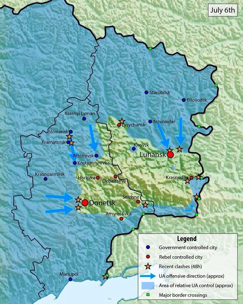 Обстановка на юго востоке украины