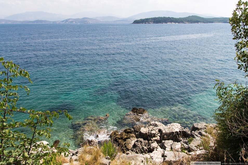 Скалы и море. Кассиопи, Корфу