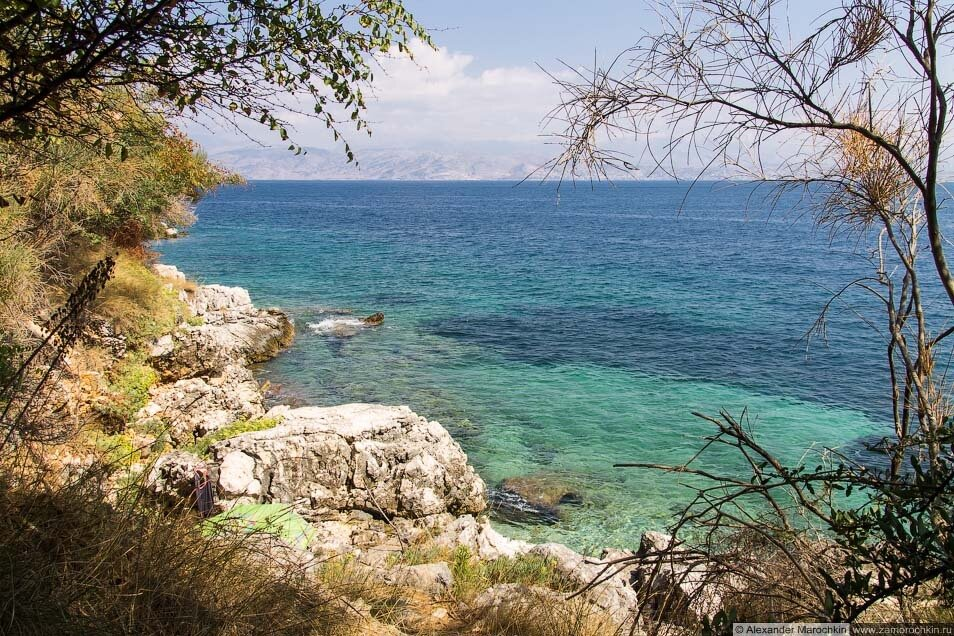 Скалистый берег Кассиопи