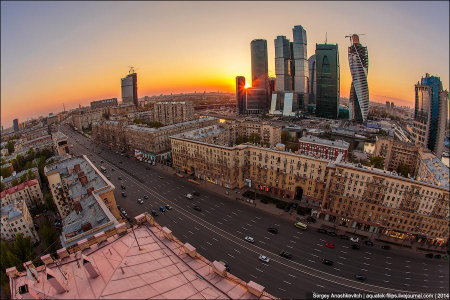 Закат и Москва-Сити
