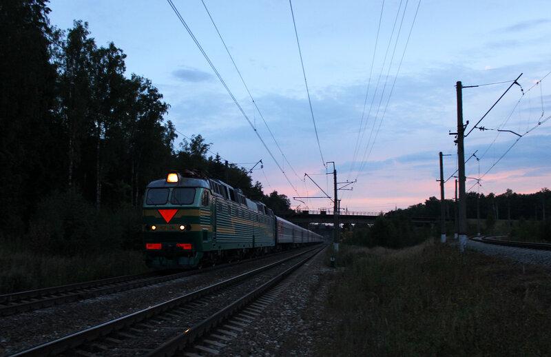 ЧС7-284 с поездом 140 Брянск-СПб