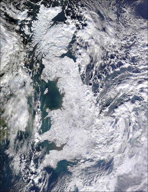 Великобритания под снегом