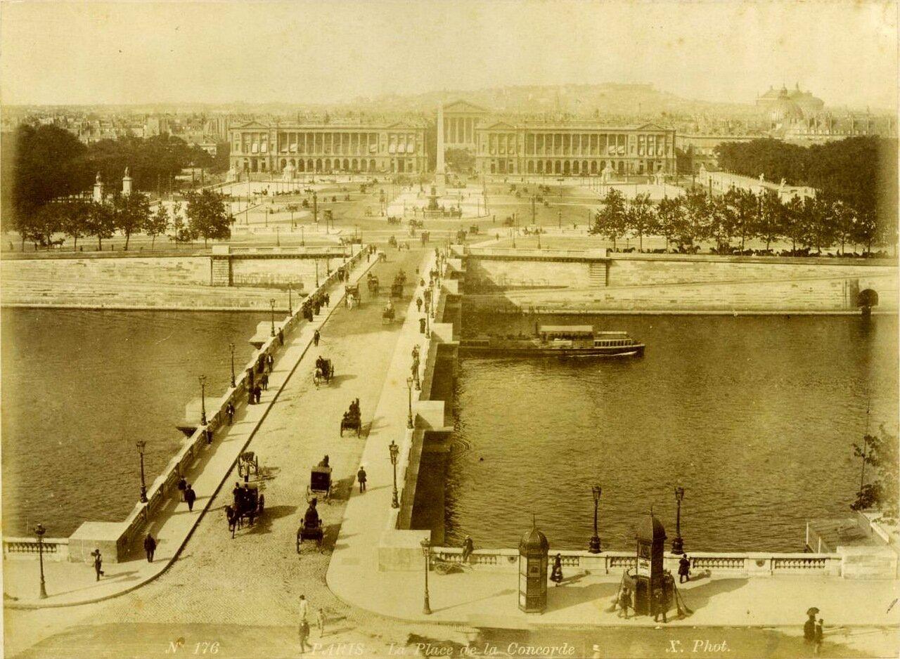 Пляс де ля Конкорд. Панорама 1880-е