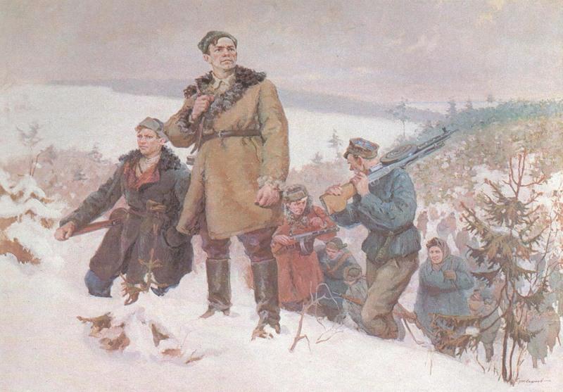 В.Суховерхов. За родную Белоруссию