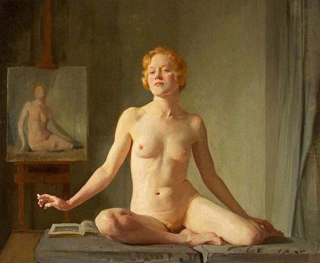 D.D. V (a) (Nude Study) (1924) Gerald Festus Kelly (1879-1972)