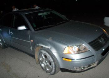 Трое угонщиков бросили автомобиль после ночной прогулки