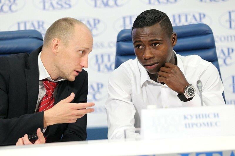 Презентация новых игроков «Спартака» Романа Широкова и Квинси Промеса (Фото)
