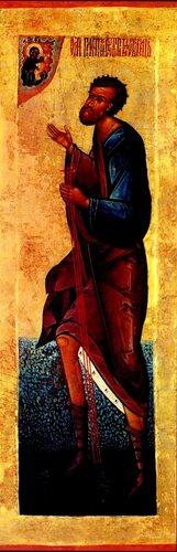 Святой Праведный Прокопий Устюжский, Христа ради юродивый, Чудотворец. Икона XVI века.