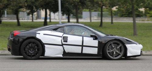 Начались тесты нового спорткара Ferrari 458 M