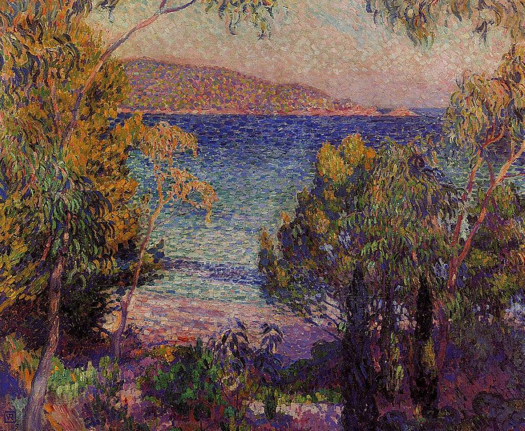 Pines and Eucalyptus at Cavelieri, 1905.jpeg