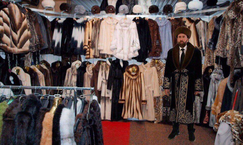 Подборка фотожаб на мем Николаса Кейджа в Казахстане