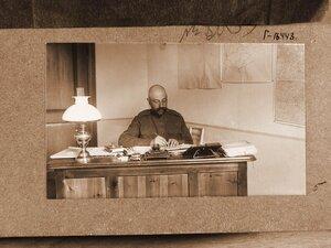 Дежурный генерал  штаба генерал-майор Ермолов за работой в кабинете.