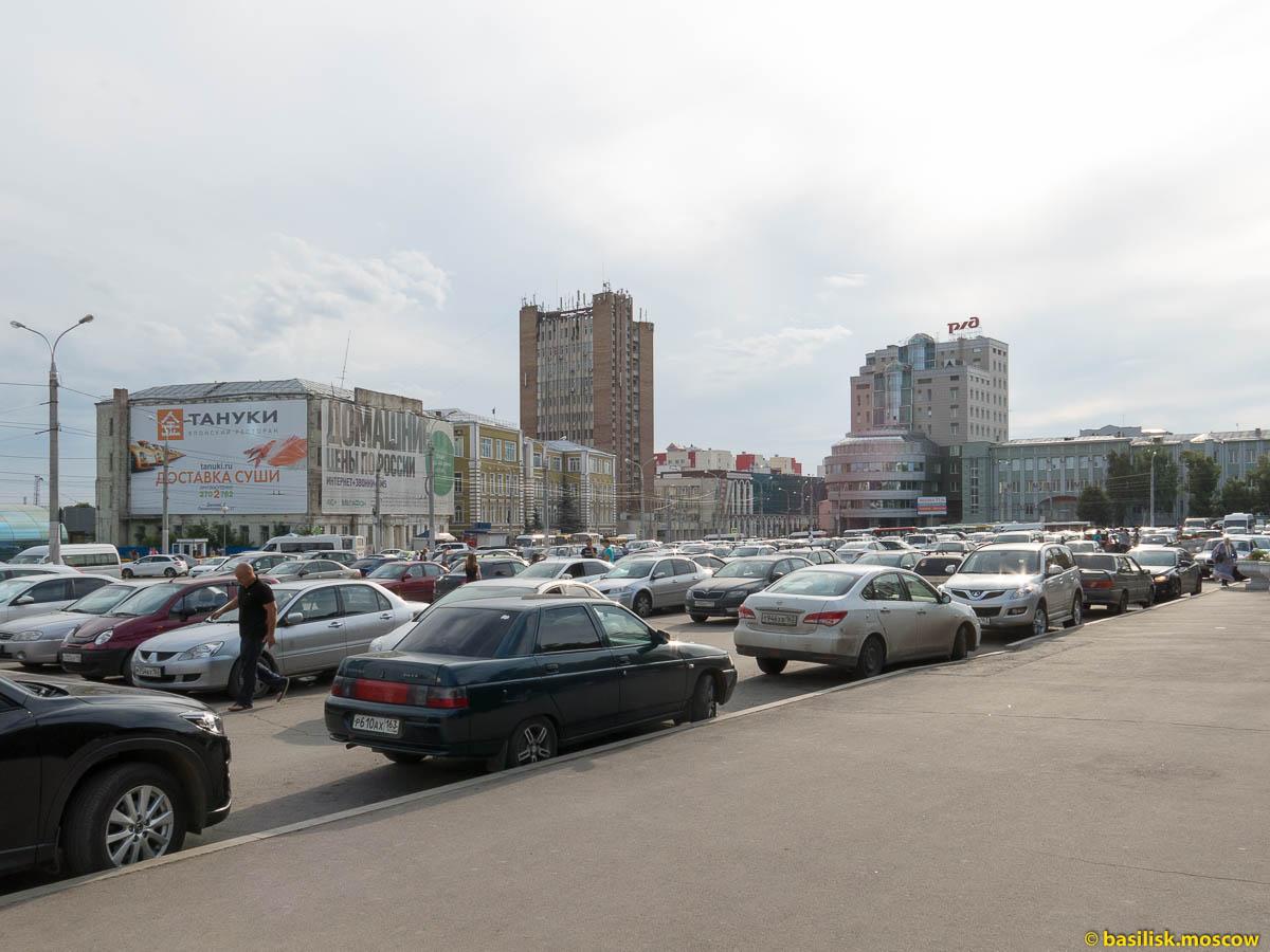 Железнодорожный вокзал Самары. Июль 2015.