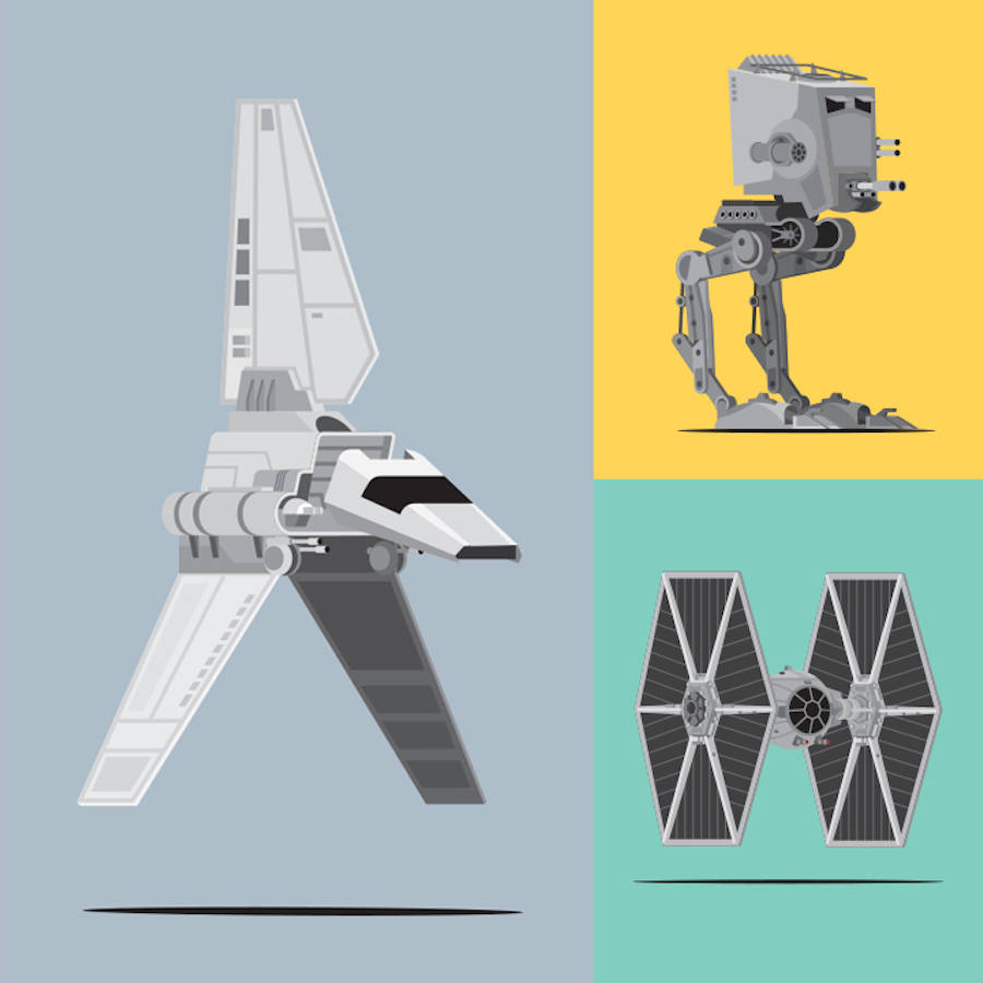 Star Wars Vehicles Posters (9 pics)