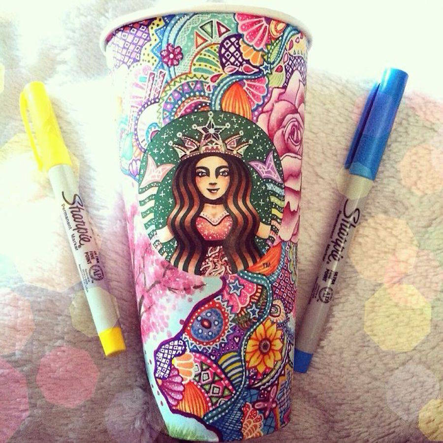 Starbucks Cups turned into Graphical Art