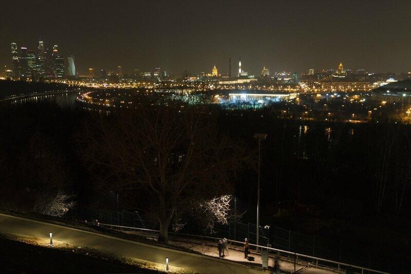 Панорама вечерней Москвы