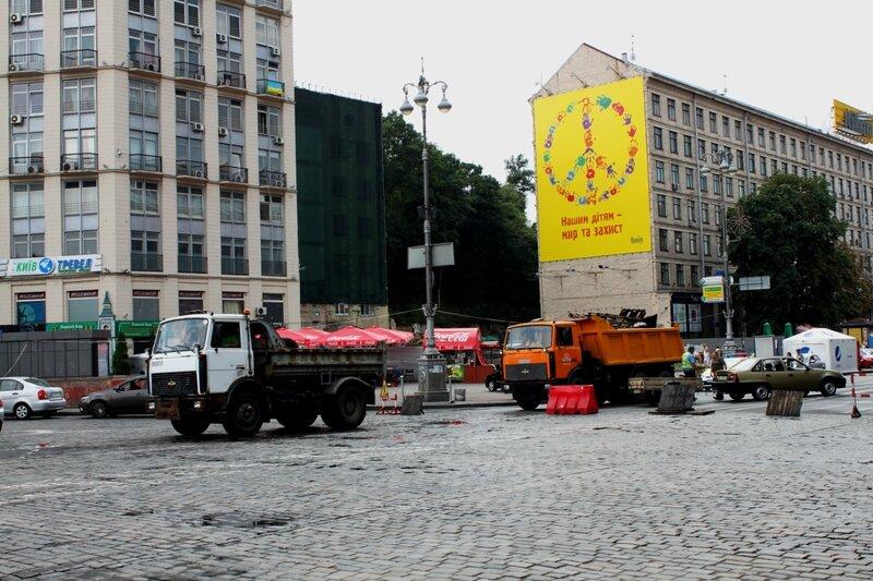 Вывоз мусора с Крещатика