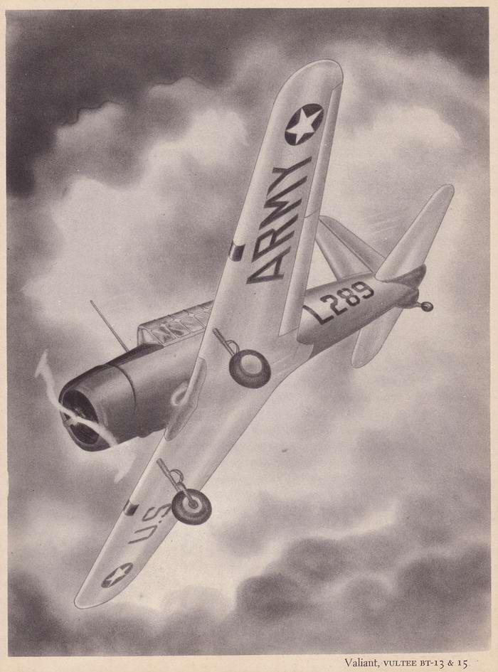 Vultee BT-13 Valiant - учебно-тренировочный самолет