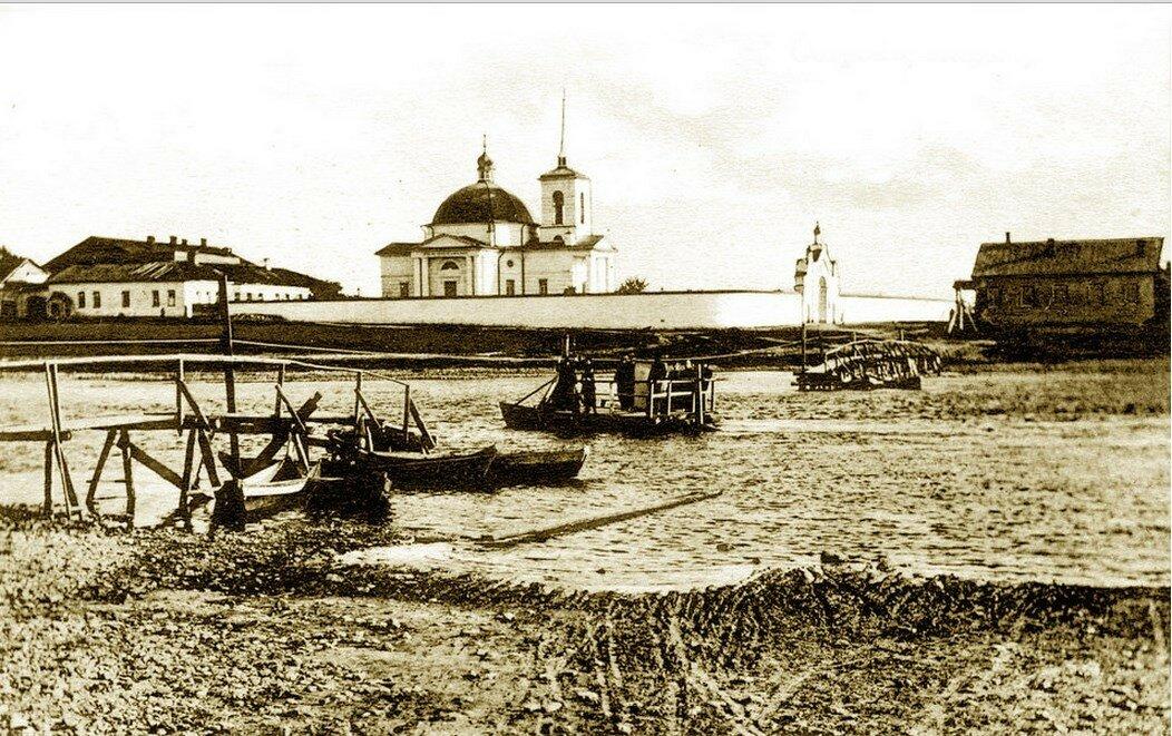 Вид на Казанский женский монастырь