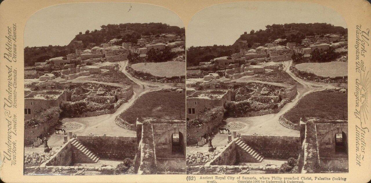 Развалины древнего города в Самарии. 1900