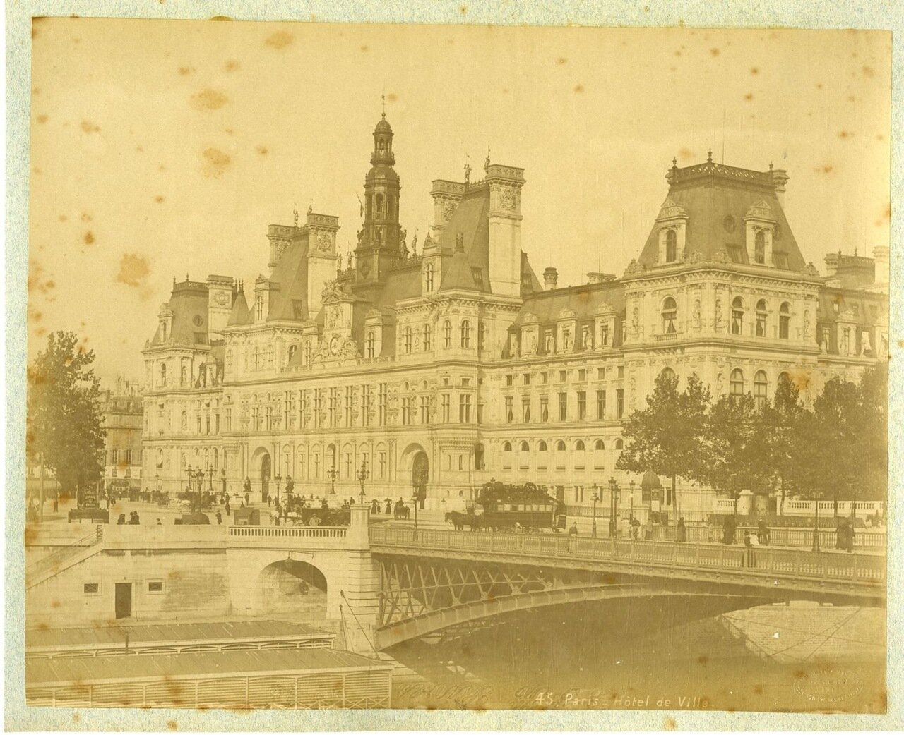Парижская мэрия. 1880-е