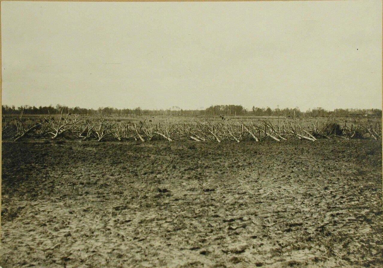 02. Вид части оборонительной линии из проволочных заграждений близ окопов. Апрель 1915