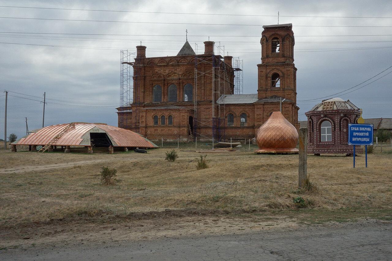 реконструкция храма в хуторе Нижнежуравский