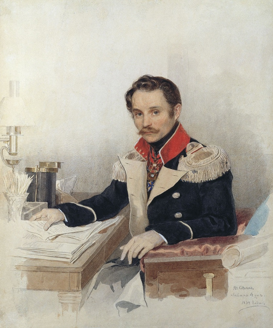 Соколов Петр Федорович Портрет Л.В. Дубельта  1834.jpg