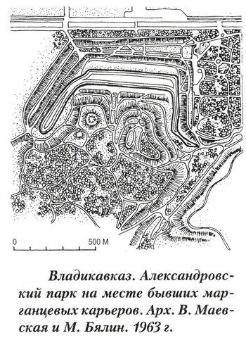 Александровский парк во Владикавказе, генеральный план