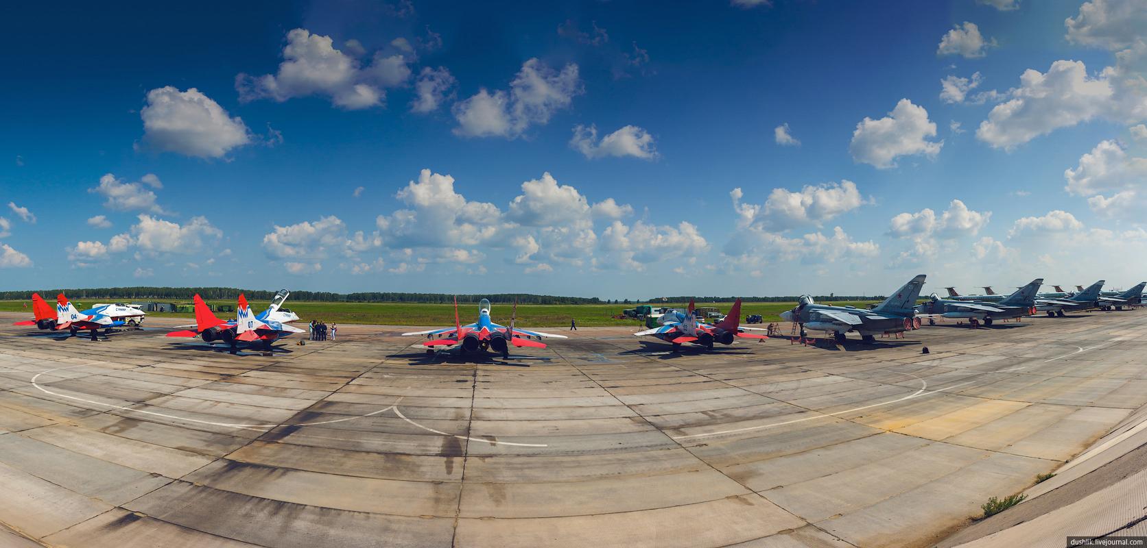 Встреча «Стрижей» на авиабазе Шагол