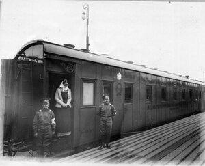 Внешний вид одного из вагонов поезд