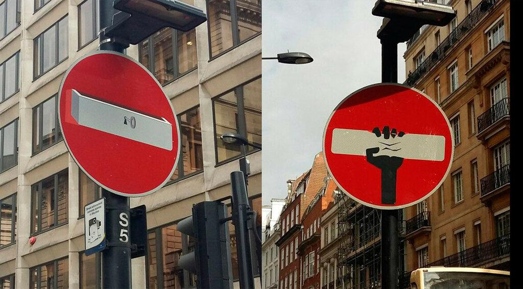 дорожные знаки, Лондон