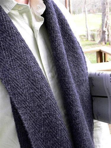 Мужские шарфы - спицами
