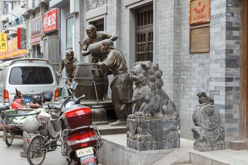 Скульптурная композиция, улица Ляншидянь, Пекин