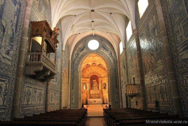 Внутренее убранство церкви из азулежу, Эвора