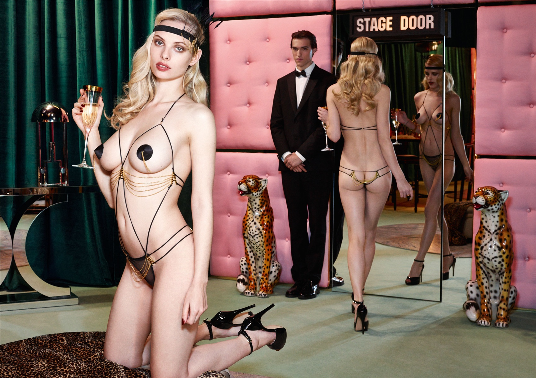 Ashley Smith, Dioni Tabbers by Christian Larson for Agent Provocateur fall/winter 2014/15 -Avery