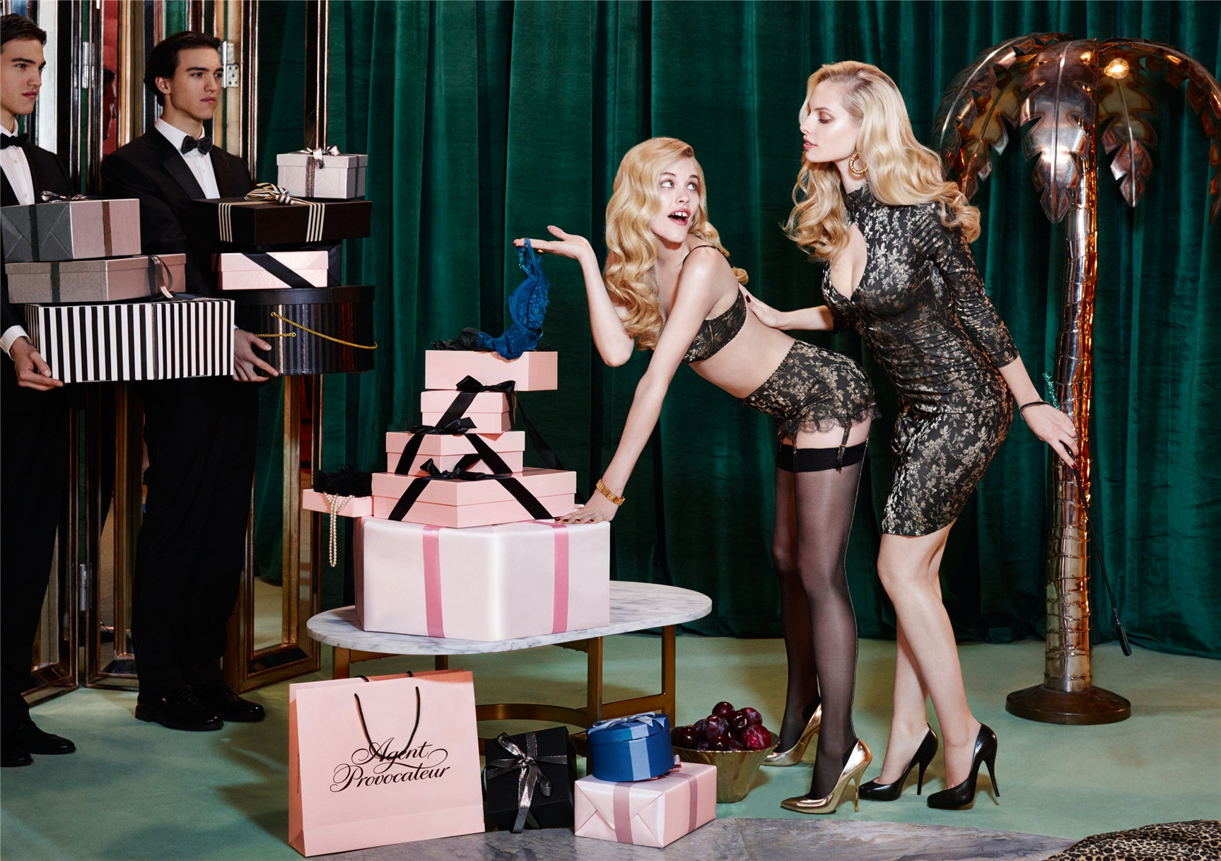 Ashley Smith, Dioni Tabbers by Christian Larson for Agent Provocateur fall/winter 2014/15 -Leoni