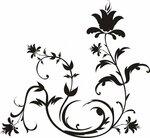 Узоры цветы черно-белые