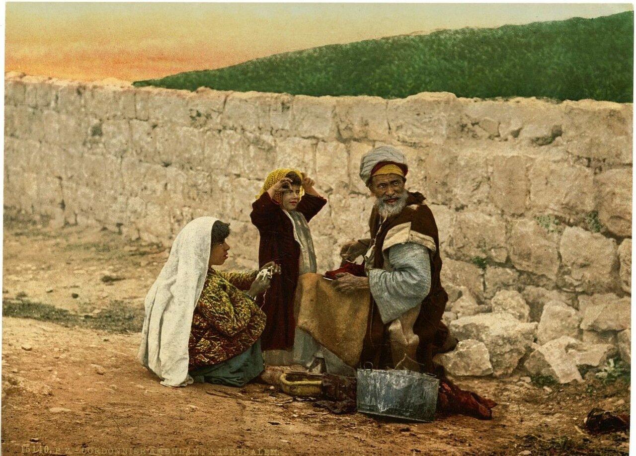 Бродячий сапожник в Иерусалиме