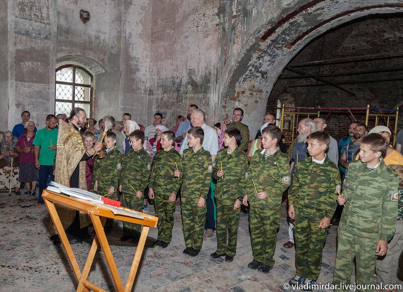 Благословление юных кадетов