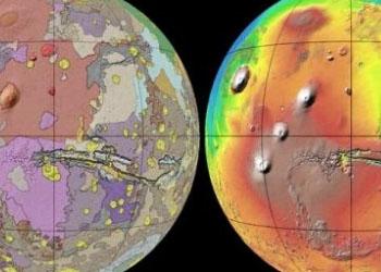Учёные-геологи представили подробную геологическую карту Марса