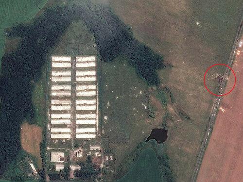 Cпутниковые снимки места падения «Боинга» на Украине