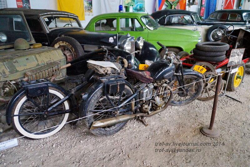 Мотоцикл Л-8, 1938 г. Ломаковский музей старинных автомобилей и мотоциклов, Москва