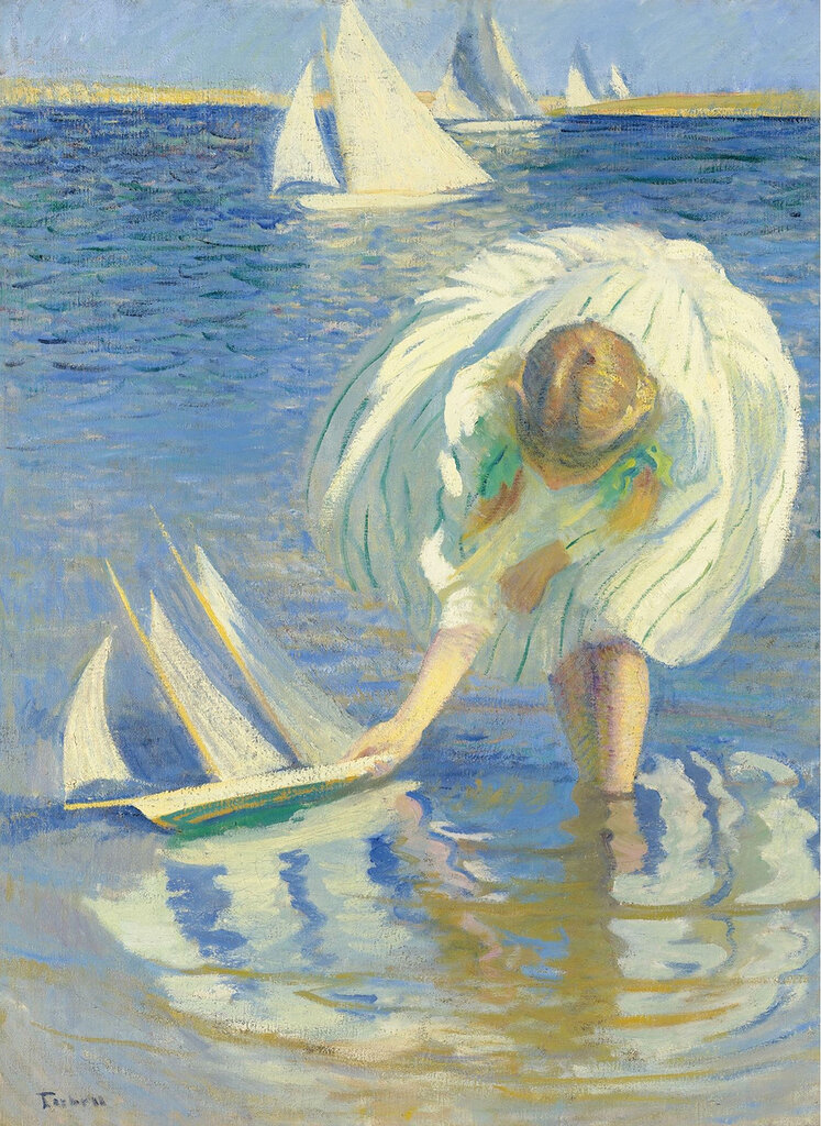Edmund Charles Tarbell - Child with Boat, 1899.jpeg